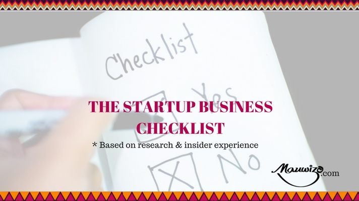 Checklist For A Startup Business  Mauwizo